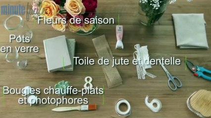 Déco Brico Jardinage : Réaliser un centre de table champêtre
