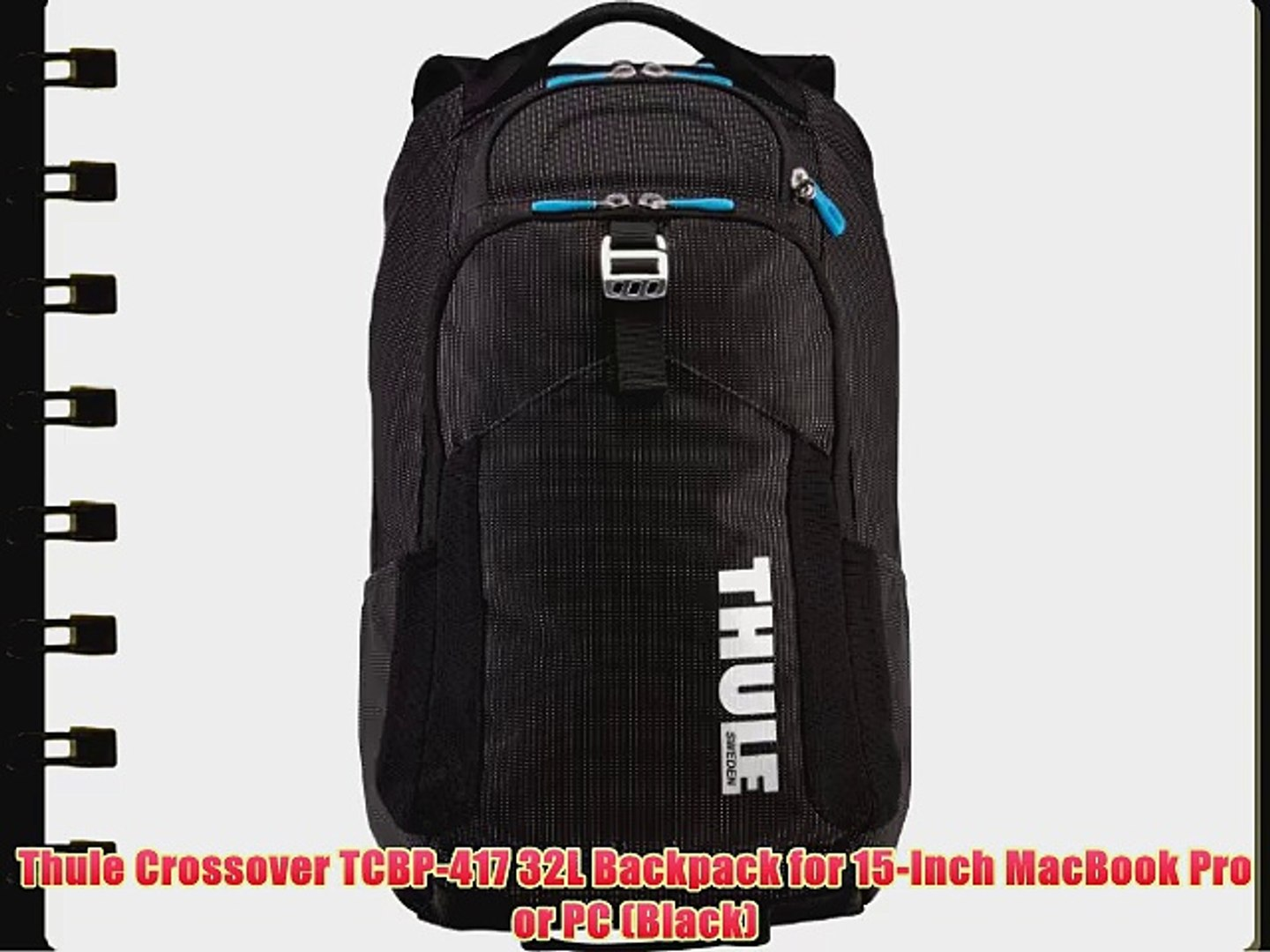 Thule Crossover TCBP-417 32L Backpack for 15-Inch MacBook Pro or PC (Black)