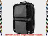 Lencca Quadra - SLATE GREY BLACK Multiple Purpose Backpack / Messenger Bag fits Apple MacBook