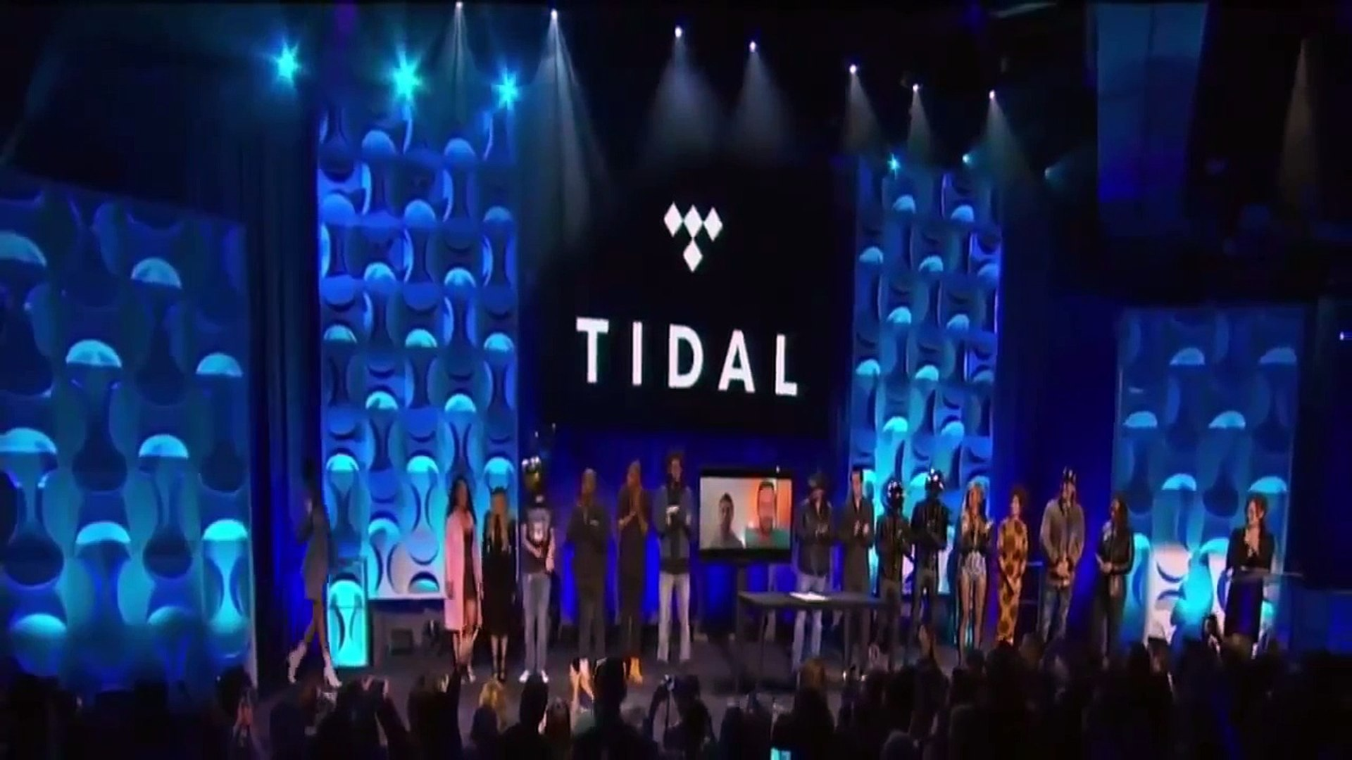 Beyoncé, Rihanna, Nicki Minaj, Madonna, Usher, Calvin Harris in Tidal Press Conference 2015 #tidal