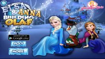 Disney Princess Frozen - Elsa And Anna Building Olaf - Disney Frozen Games for Girls