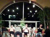 College guys get crazy on the beach while hypnotized!