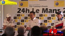 Neel Jani, Marcel Fässler and Sébastien Buemi by TCS training and events Le mans 2015
