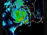 Hurricane Ike satellite, radar animations