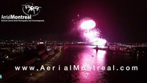 Montreal Fireworks - Aerial View by AerialMontreal.com - Feux Loto-Quebec -