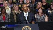 """Barack Obama aux Français: """"les Etats-Unis sont à vos côtés"""""""