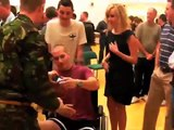 EXCLUSIVE (all clips): X-Factor finalists (UK 2008) visiting injured soldiers