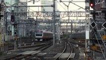 【7倍速】夕方の新宿駅 定点観測 Japan Tokyo JR Shinjuku Station Trains  x7