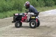 lawnmower madness, donuts, burnout, ramping, fast!
