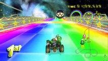 Rainbow Road 64 Remake Mario Kart Wii CTGP Revolution - HD Gameplay On Dolphin 3.5 Wii Emulator
