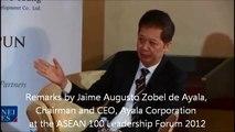 Remarks by Jaime Augusto Zobel de Ayala, Chairman and CEO, Ayala Corporation