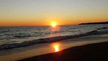 Sonnenuntergang am Meer Sunset on the Beach Strand Faro Portugal Meer Sea Ocean Algarve