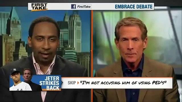ESPN First Take- Derek Jeter bashes Skip Bayless