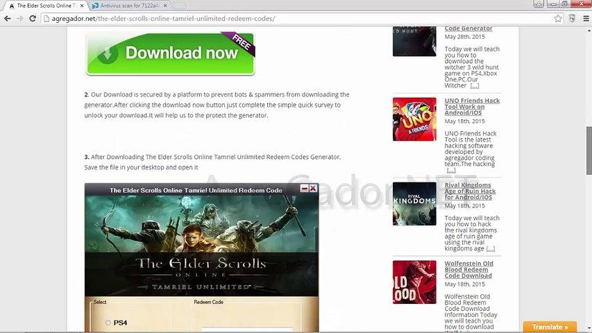 The Elder Scrolls Online Tamriel Unlimited Redeem Code Generator