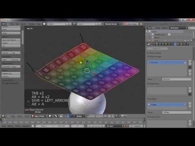 Tutorial Blender: Cloth Simulation