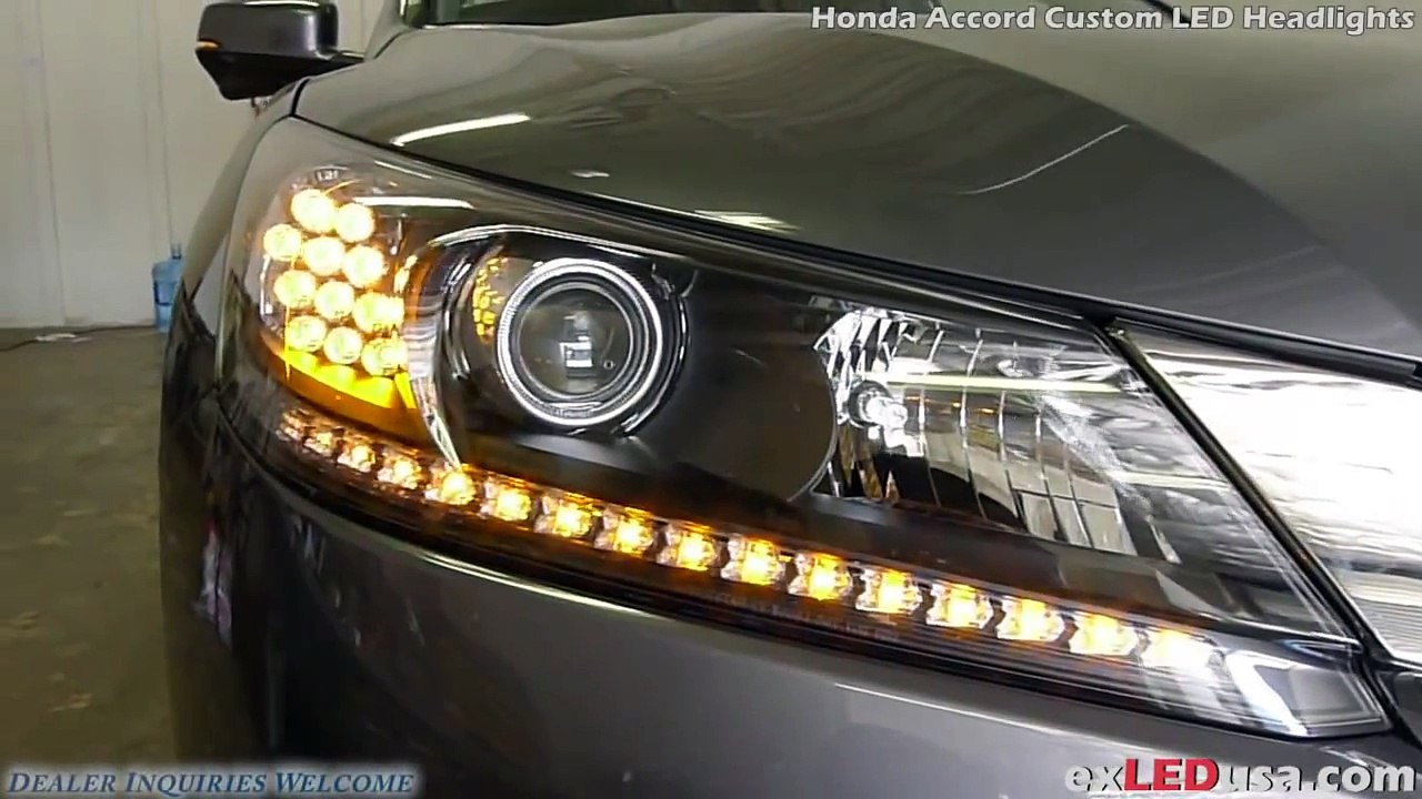 Exledusa Honda Accord Custom Led Headlights Video Dailymotion