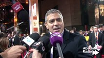 George Clooney red carpet interview at BAFTAs 2012