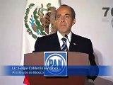 Mensaje del Presidente Calderón en el 70 Aniversario de Acción Nacional