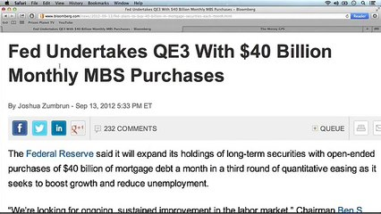 Fed Engages In QE3. Bye, Bye Dollar!