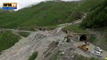 Coulée de boue impressionnante dans les Hautes-Alpes