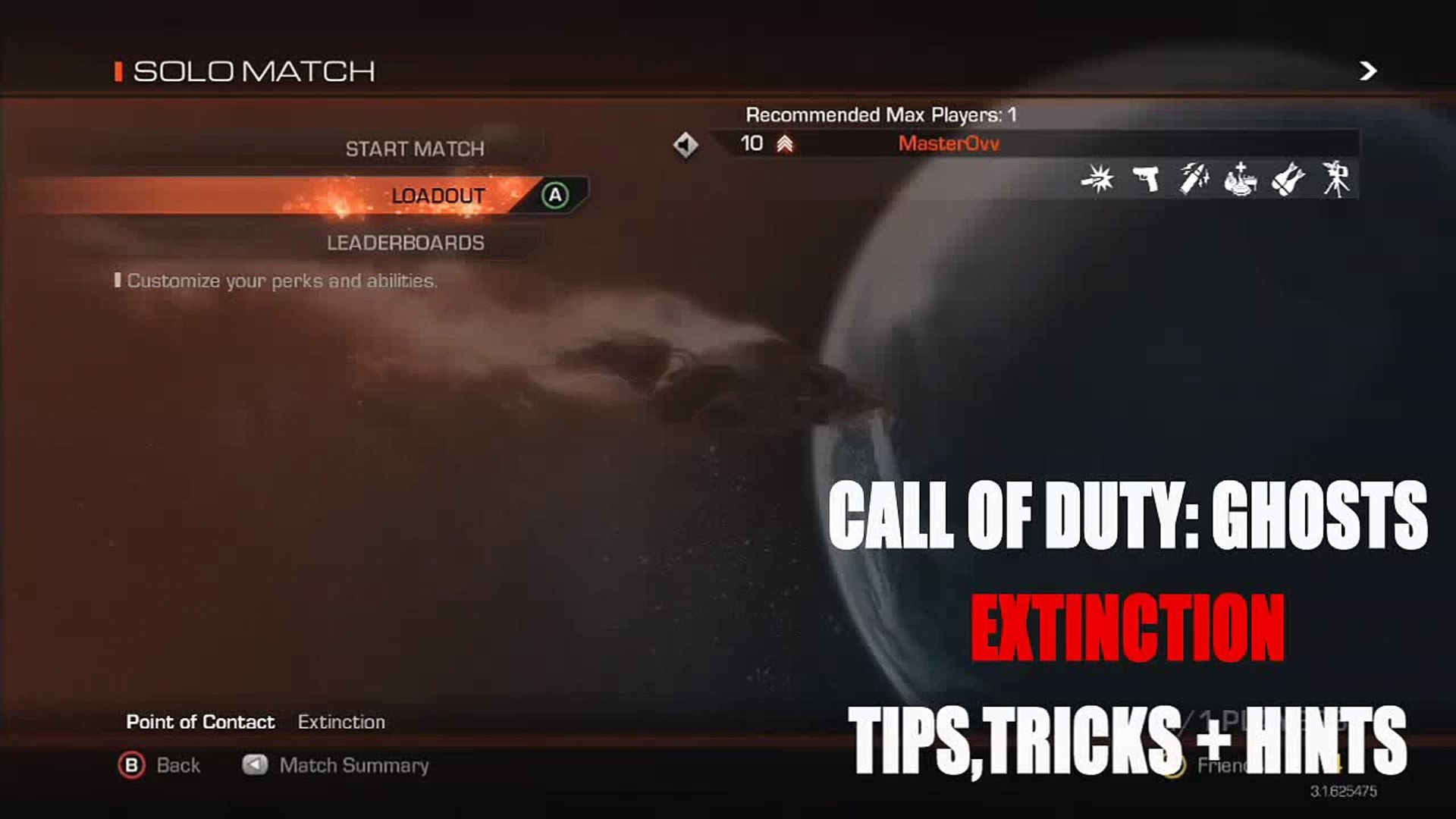 Extinction Tips And Tricks Loadout Explained Cod Ghosts How To Tutorial Best Loadouts Video Dailymotion