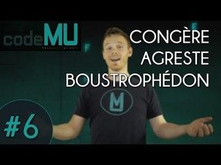 Code MU #6 - CONGÈRE, AGRESTE, BOUSTROPHÉDON