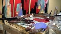Abstract Oil Paint Artist - Laura Edwards - Torpedo Factory, Arlington VA