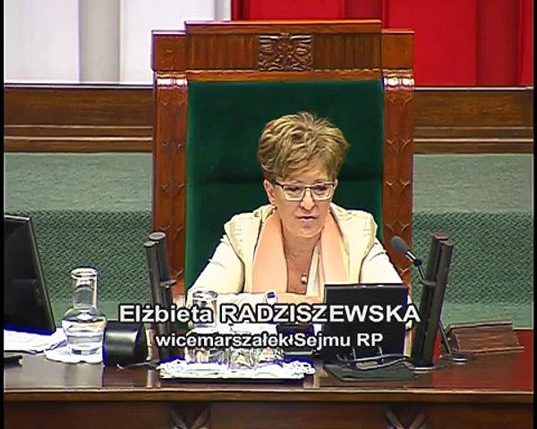 Poseł Elżbieta Rafalska - Wystąpienie z dnia 11 czerwca 2015 roku.