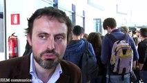 Maccio Capatonda con Ivo Avido e Rupert Sciamenna alla IULM