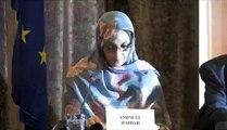 GUE/NGL press Conference .  Aminetu HAIDAR militant of  Saharawi human rights   04.2010