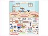 Decorate salon for pets! Developing a cartoon for kids! Cartoon girls!