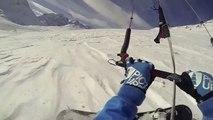 Cronix freeride snowkite session 4th february 2014 lautaret pass