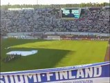 The Finnish national anthem Maamme in Finland-Belgium match