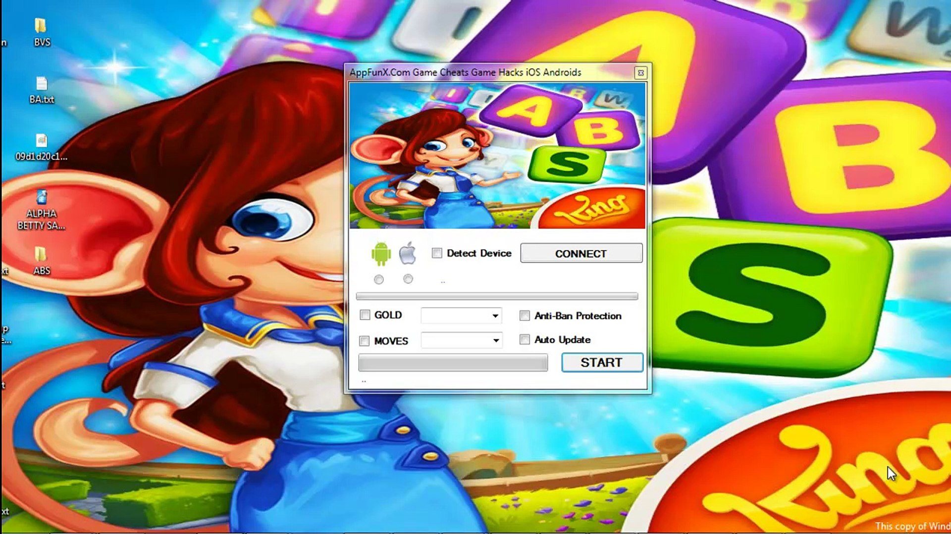 AlphaBetty Saga Hack and Cheats Free Gold Unlimited iOS Android