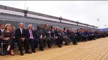 François Hollande et Ali Bongo plaisantent au sujet du Rafale au salon du Bourget