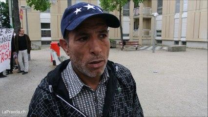 Rencontre avec un  requérant  débouté en colère au  foyer des   Tattes (Vernier, Genève),  le 15 juin 2015 (ENGLISH SUBTITLES !)