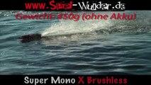 RC Rennboot Super Mono X Brushless 2.4 GHz / bis 45/Kmh 42 cm lang an der Ostsee auf Fehmarn