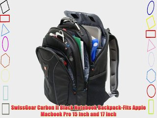 Wenger Carbon Laptop Backpack designed for Macbook Pro 15-inch and 17-inch