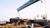 USS Gerald Ford construction timelapse