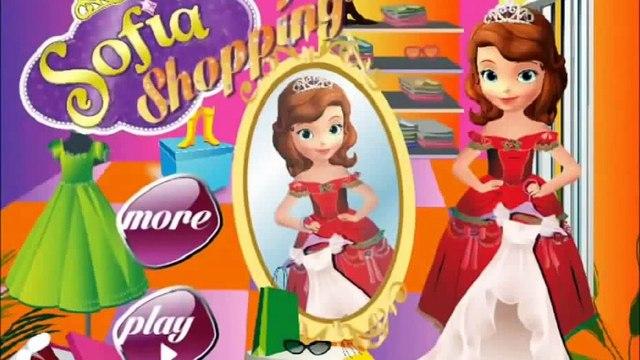 Disney Princess Sofia Shopping Game Video-Sofia The First Gameplay-Shopping Games