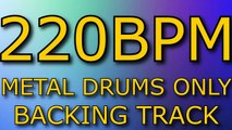 METAL DRUMS ONLY BACKING TRACK // 160 BPM // - video dailymotion