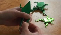 How to make origami Dragon Claws Halloween - YouTube in 2020 ... | 120x211