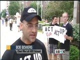 AIDS Activists - ACT UP Wisconsin demonstrating in Madison, Wisconsin
