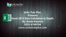 Excel 2013: Data Validation in Depth 1/18