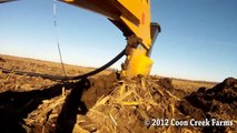 Tiling with a Gold Digger tile plow