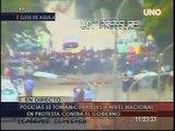 Incidencias y Desmanes por protestas de policiales en Guayaquil. 30/09/2010