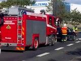 Multiple car crash close to the fire station - Odense Fire Brigade responds