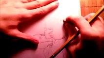 drawing Akira Tsubaki and Akira Tsubaki Drawing Time Lapse