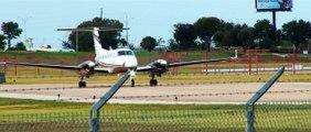 Sunset Airplane Spotting: KAUS Austin, Texas