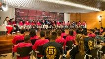 Thuram ofrece una charla sobre racismo a los participantes de 'FutbolNet'